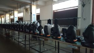 moving head beam production