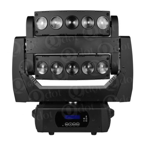 10pcs 10W moving head beam effect light with infinite PAN/TILT movement