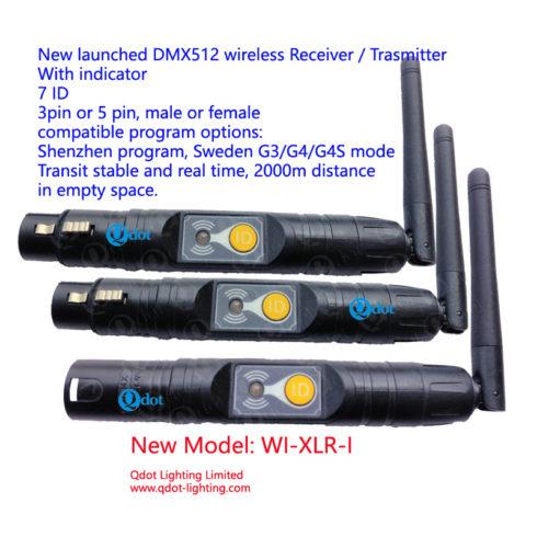 WI-XLR-I Indicator 2.4G Wireless DMX512 Receiver/Transmitter