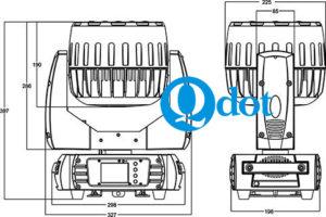 QZOOM 740F mini wash zoom size