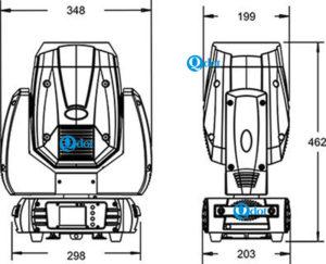 Q-805 LEDSPOT 250 size